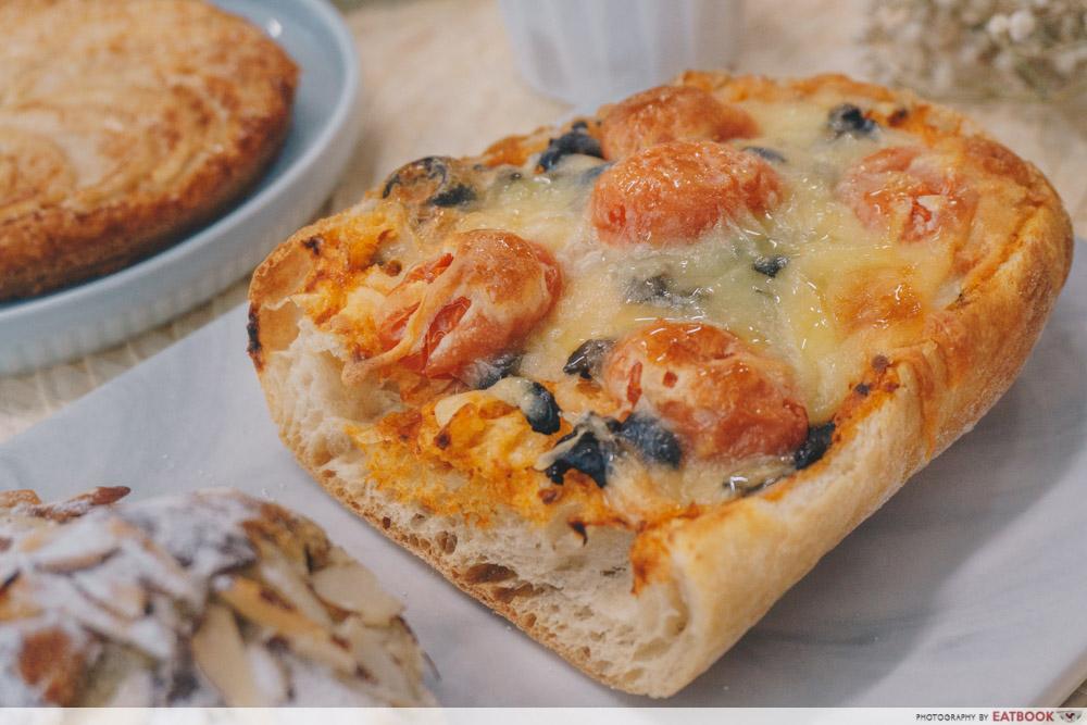 Bakery Brera - Black Olive Bread Pizza