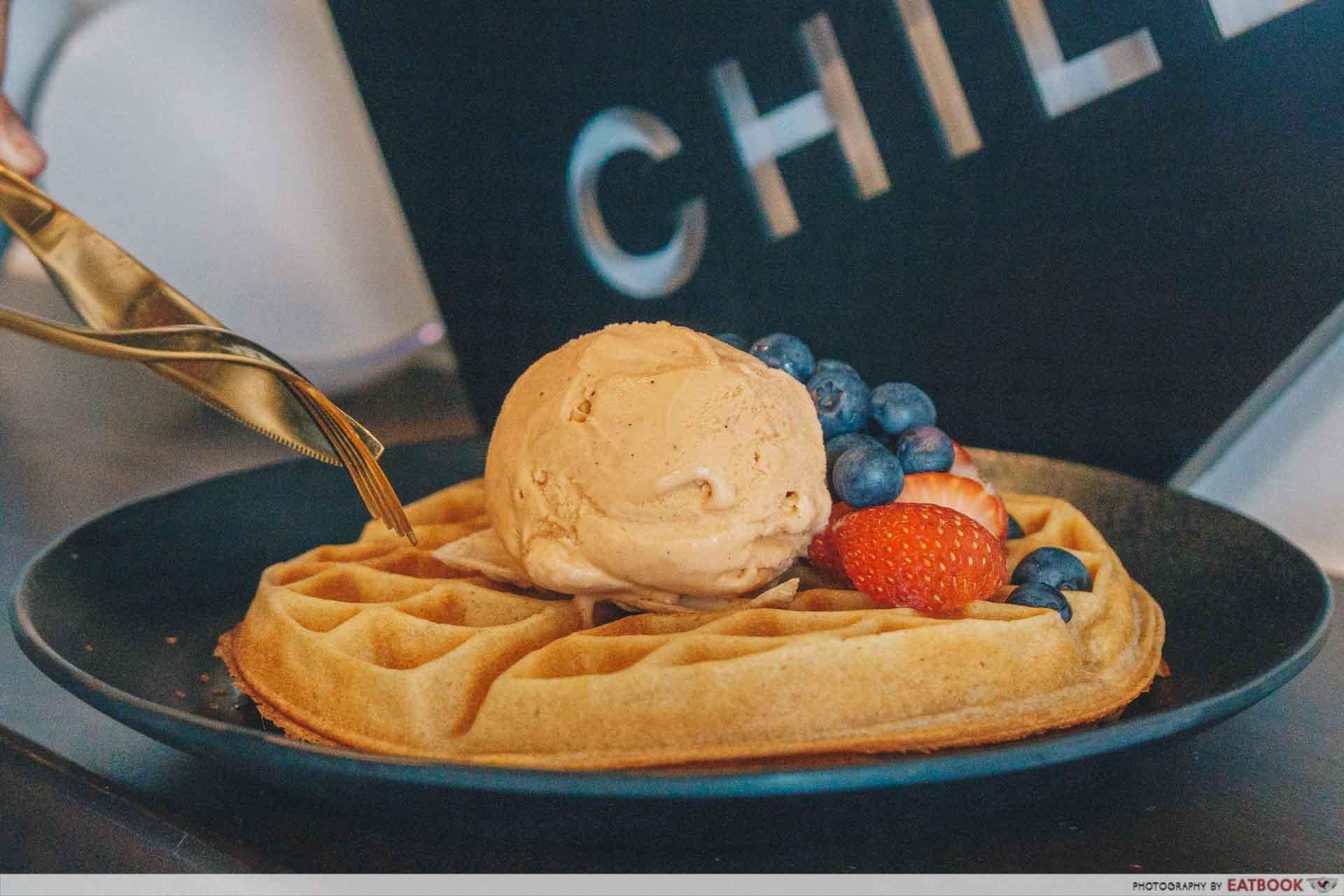 C Plus - Waffles with Ice Cream