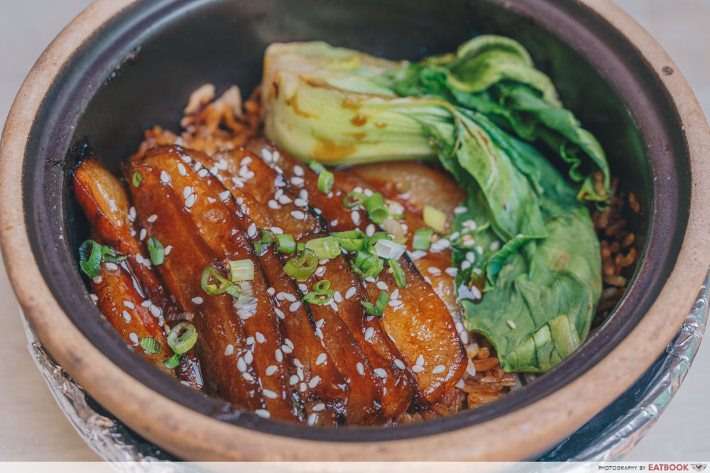 Claypot Dishes - Teriyaki Pork Jowl Claypot Rice