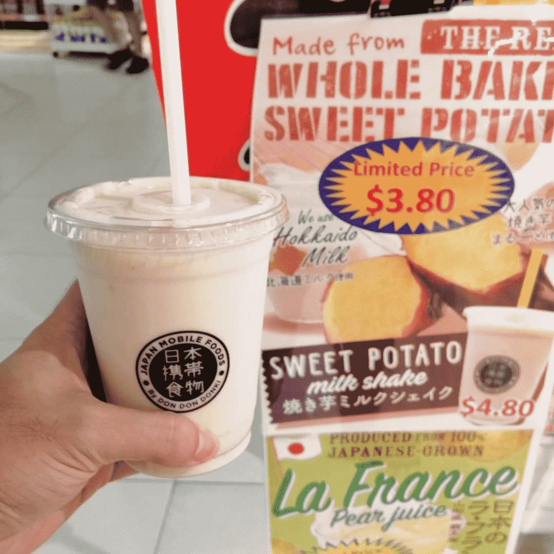 Don Don Donki Sweet Potato Milkshake-min