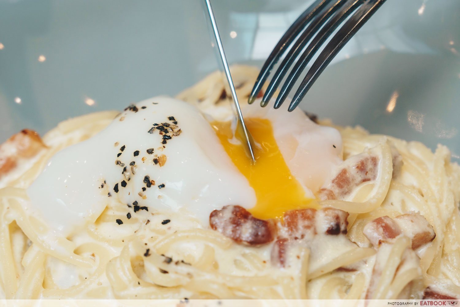 Baristart- Carbonara sliced egg