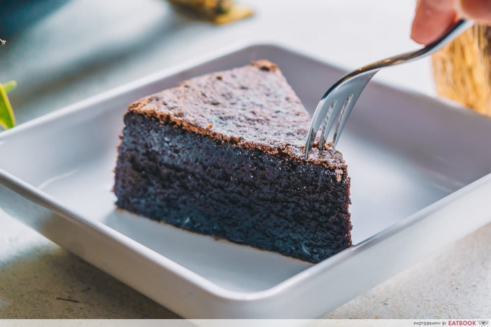 Black Fairy Coffee Flourless Chocolate Cake