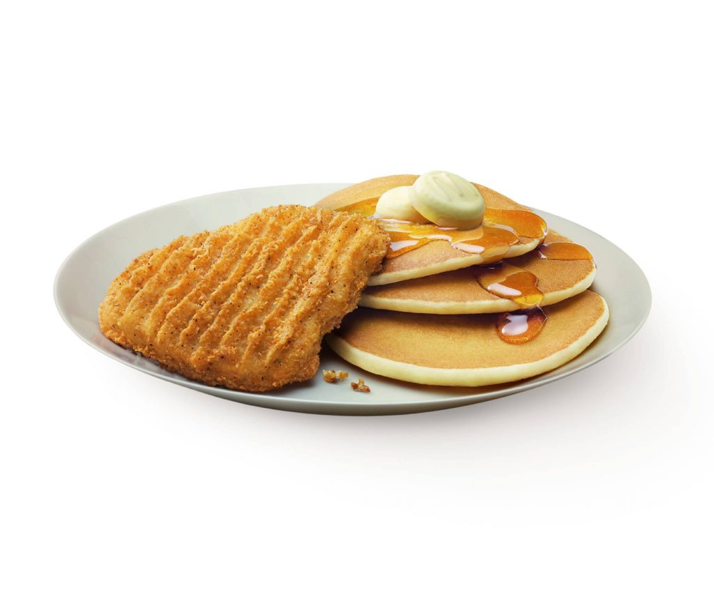 Hotcakes with Golden Chicken
