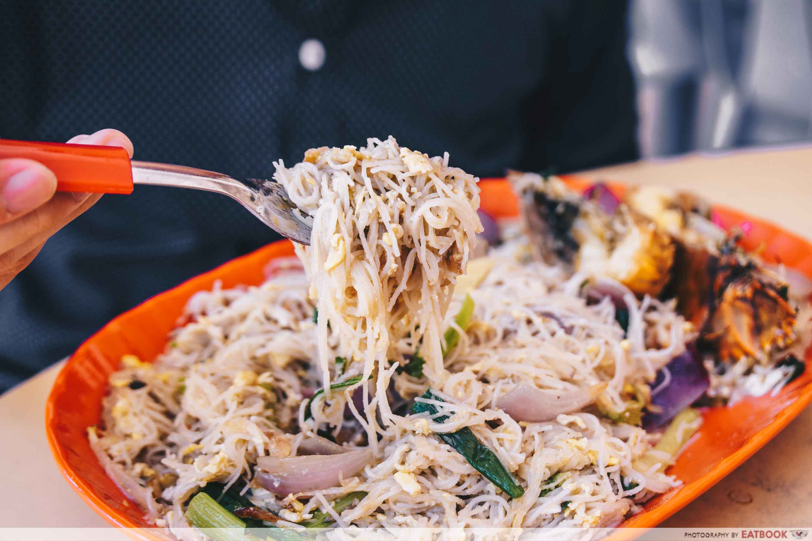Jom Makan BBQ Seafood - White Bee Hoon Close Up