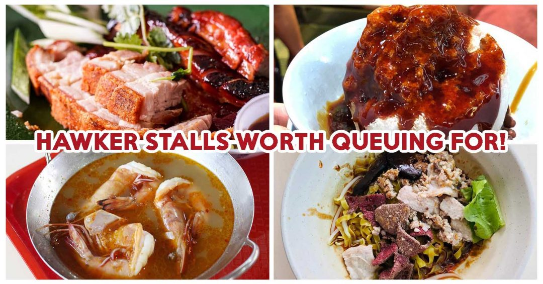 Long queue hawker stalls cover