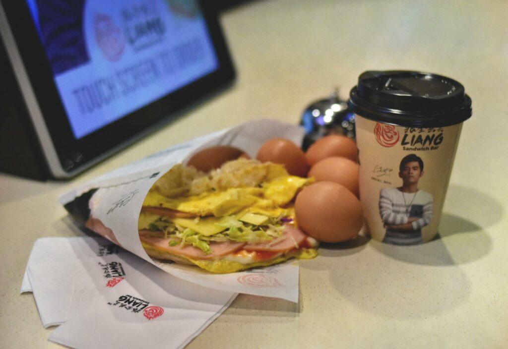 Popular overseas food stores Liang sandwich