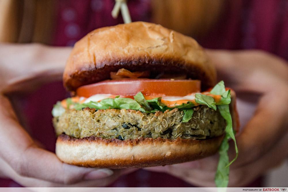 ShopBack Go - Afterglow Quinoa Burger