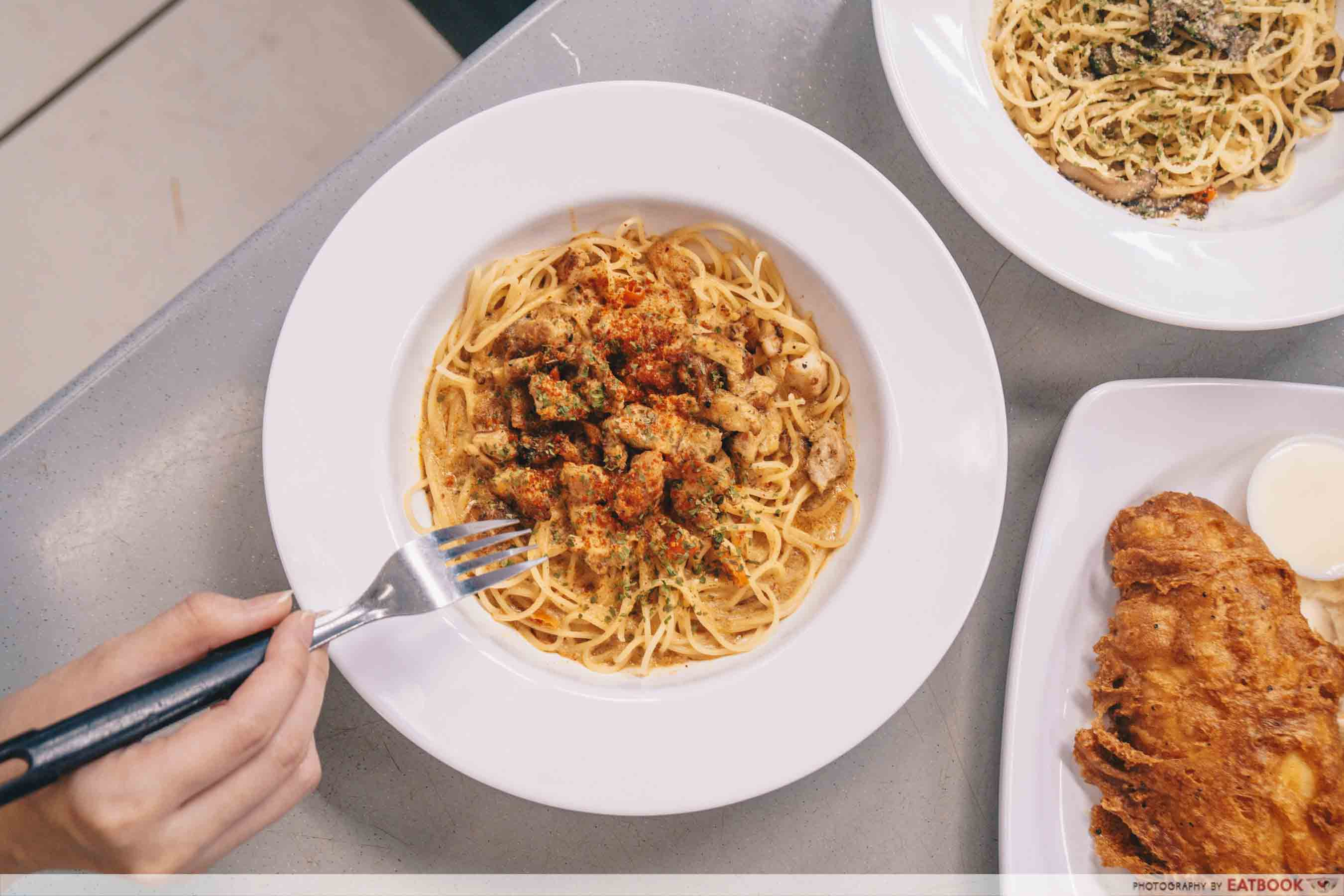 Strands and Grains tom yum pasta top