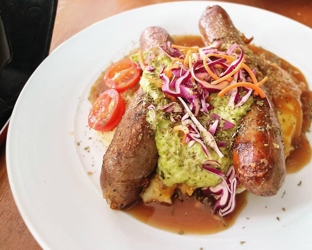 london dishes the mad sailors bangers & mash