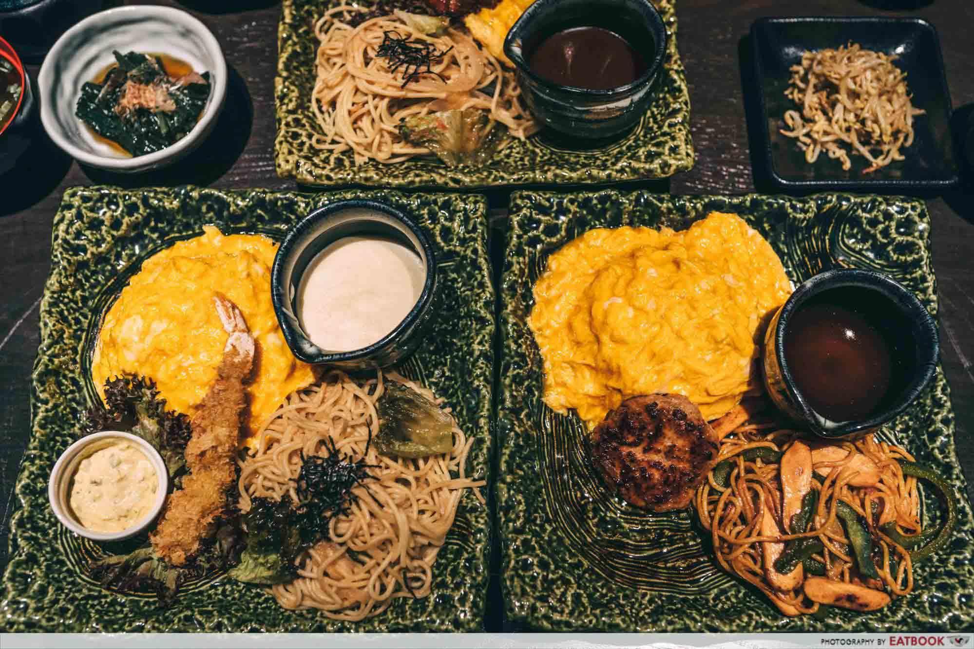 new restaurants february omurice keisuke flatlay
