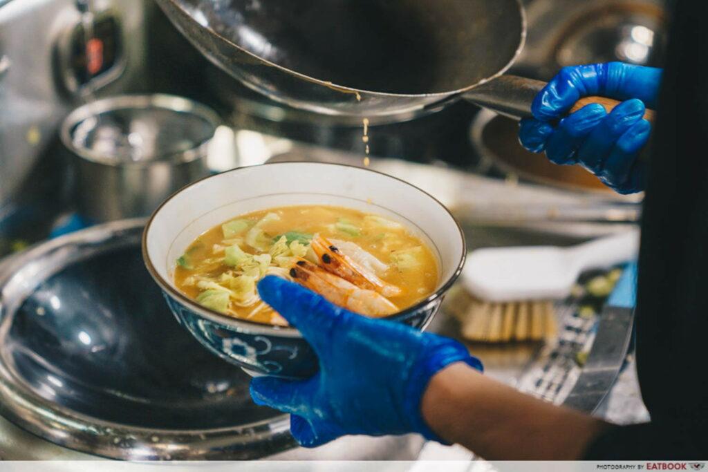 new restaurants january shrimp ramen