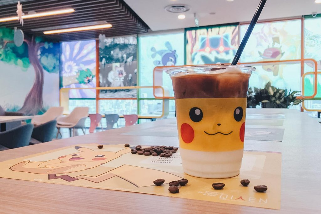 pokemon-themed cafe pikachu cup