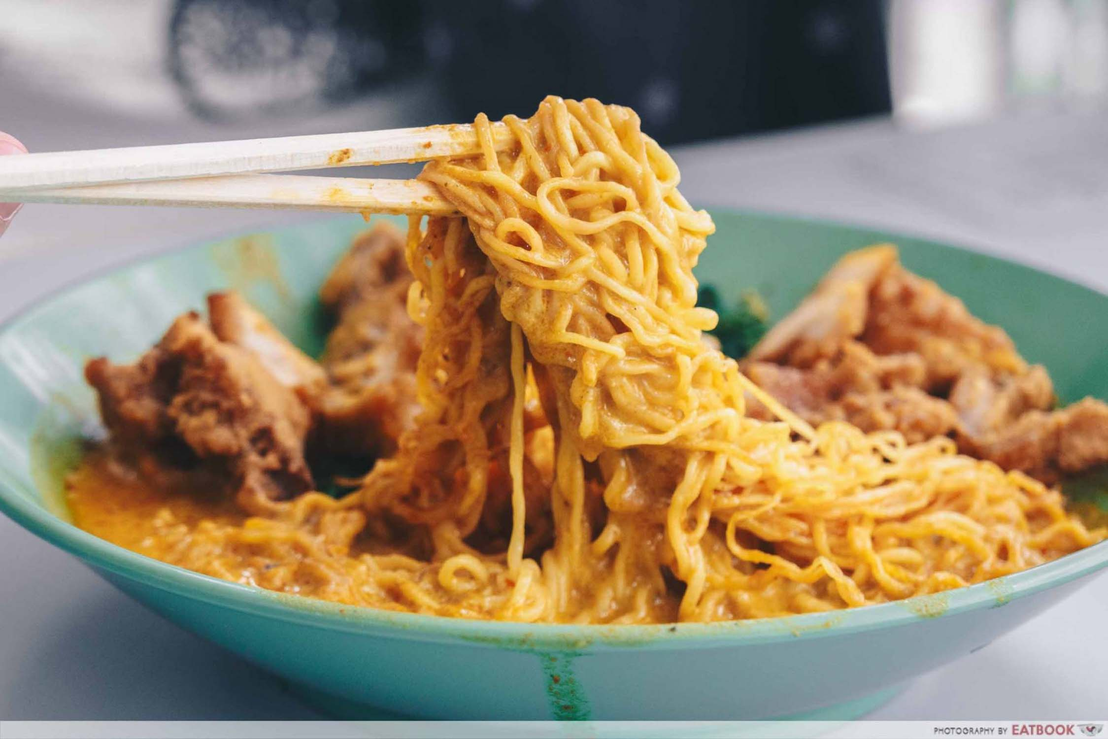Cantonese Delights - Fried Chicken Cutlet Curry Noodles Noodle Pull