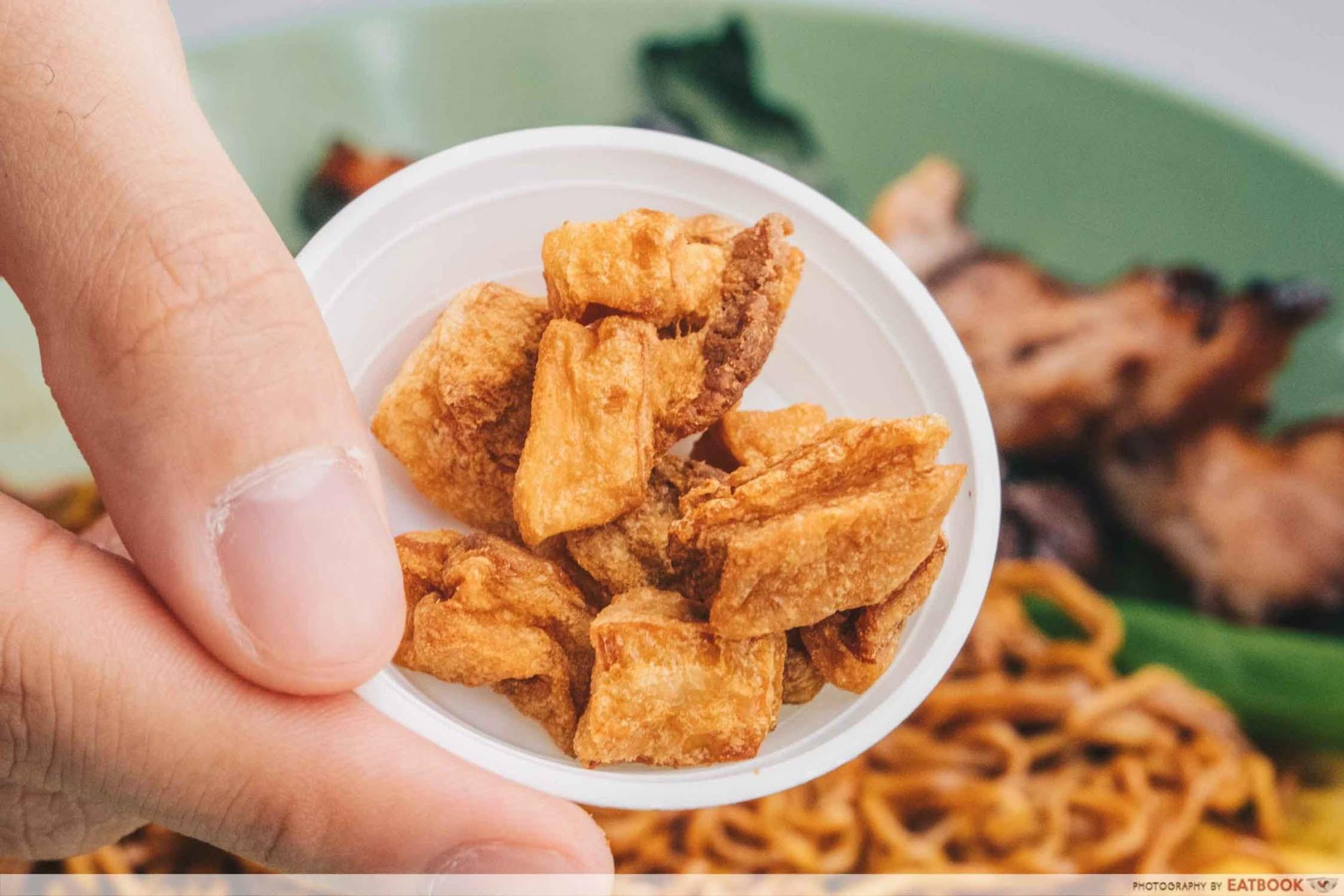 Cantonese Delights - Fried Pork Lard Closeup