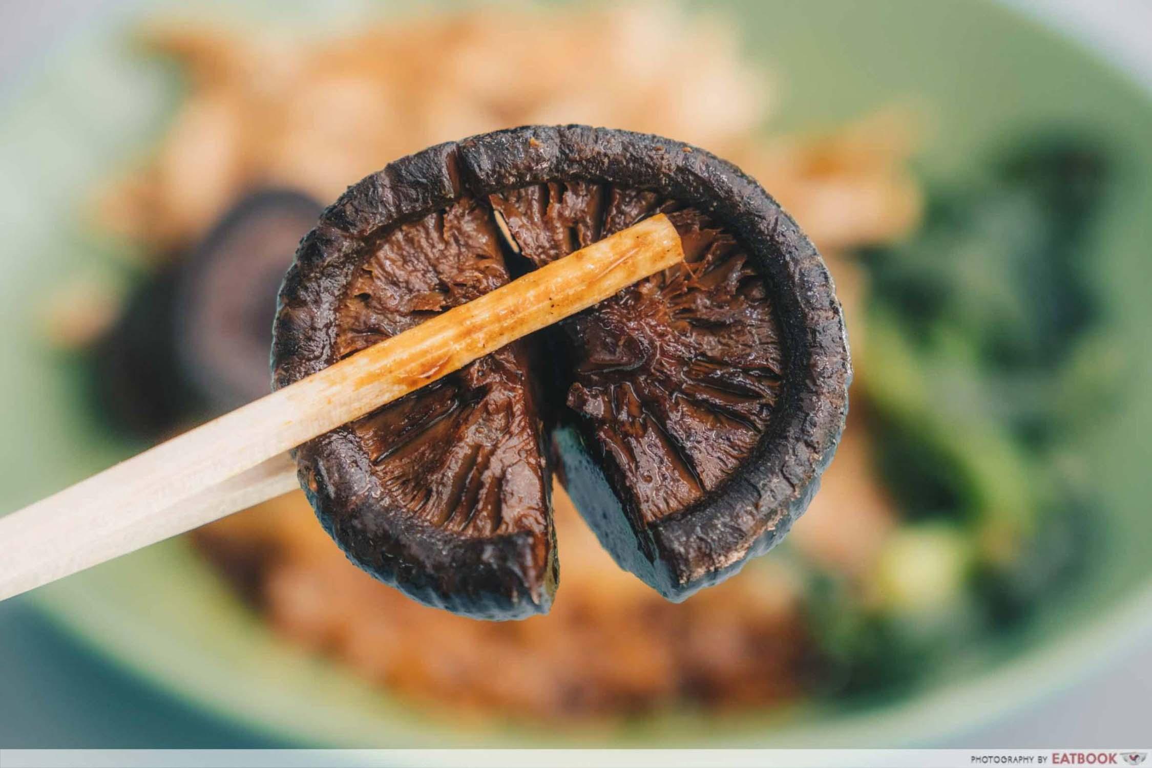Cantonese Delights - Shiitake Mushroom Closeup