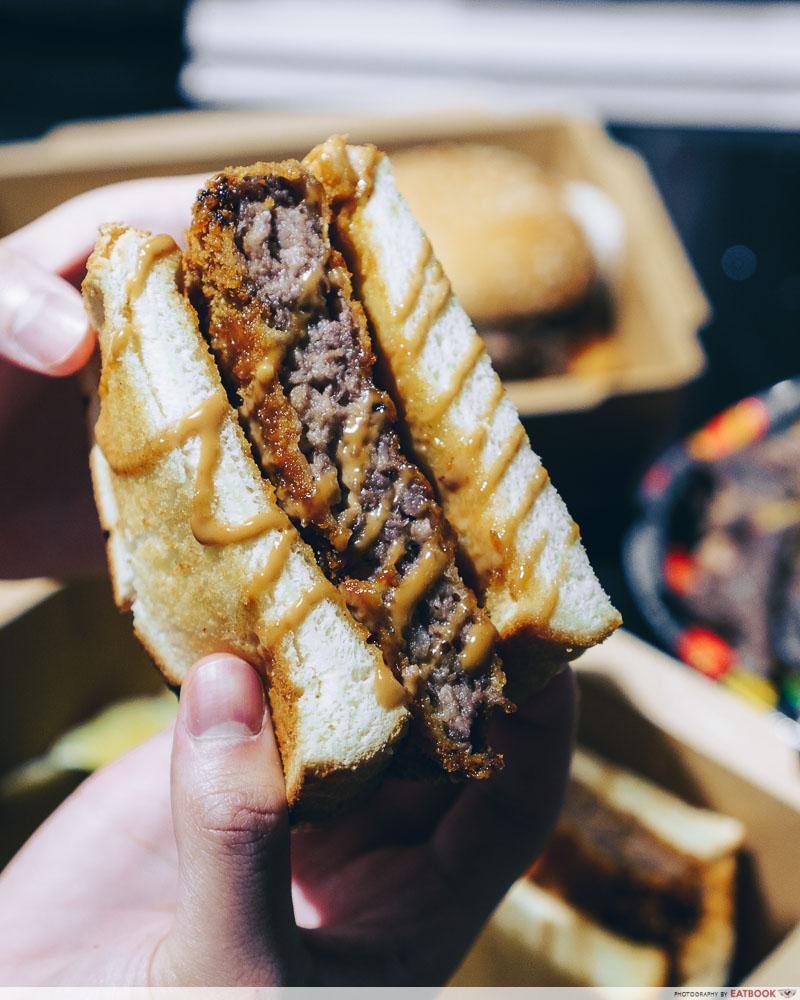Gyu & Tori - Wagyu Sandwich grain