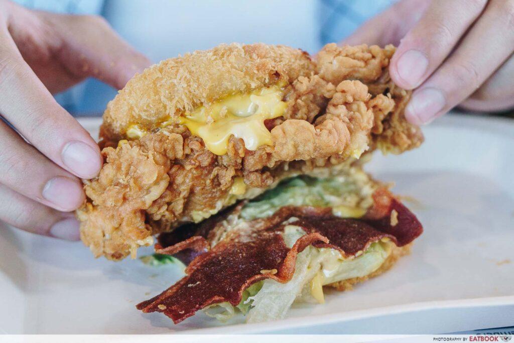 KFC Mac and cheese zinger