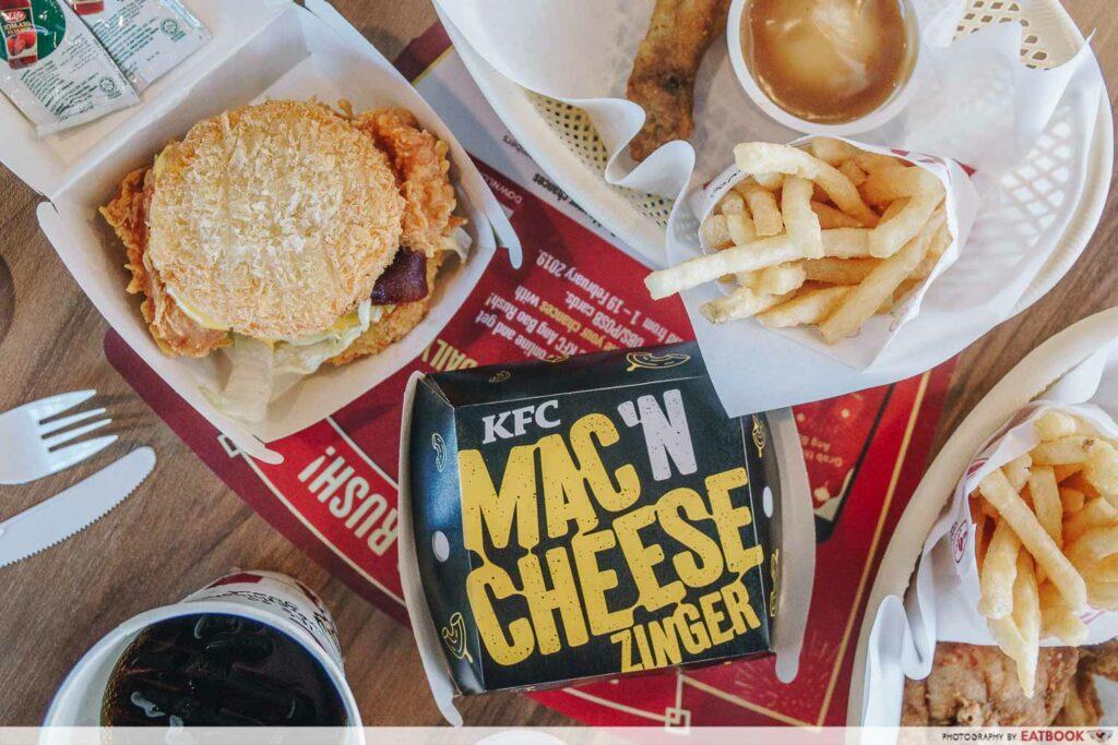 KFC mac and cheese zinger burger