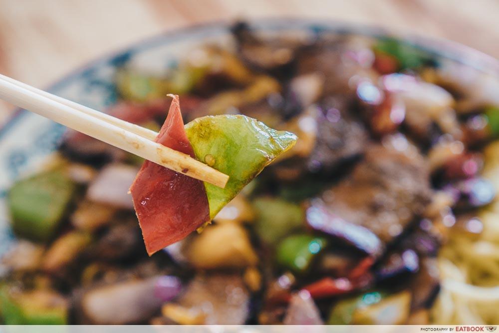 Niu Zou La Mian - stir fry vegetables