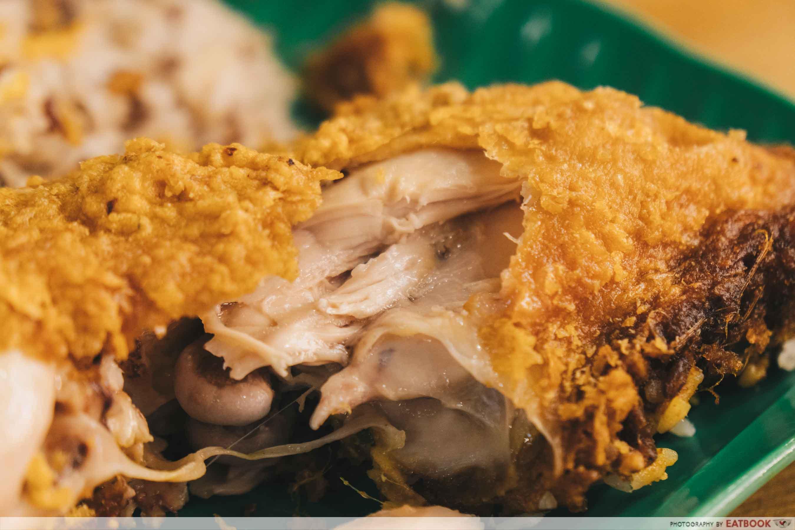 Yes Nasi Kukus fried chicken meat