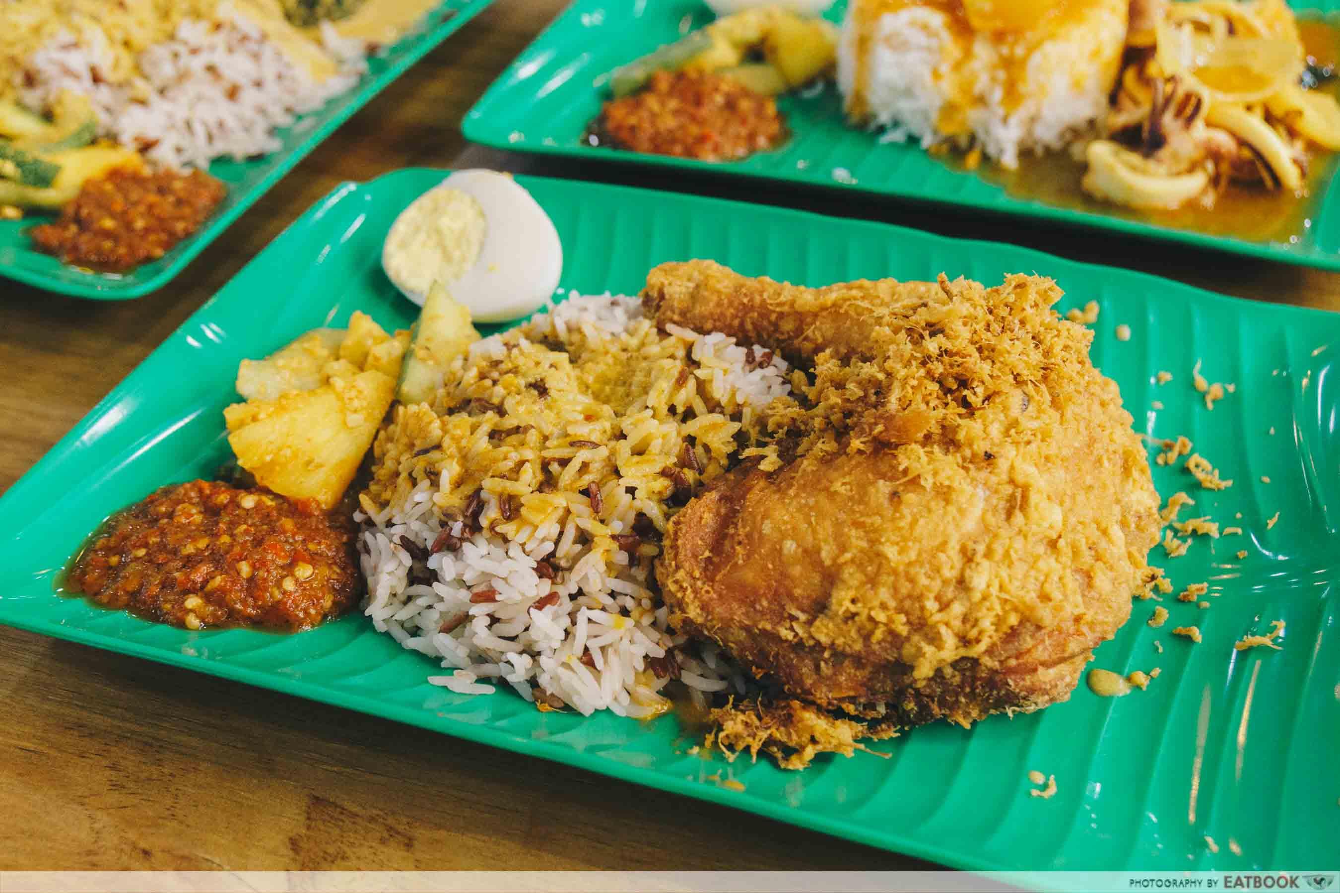 Yes Nasi Kukus fried chicken with nasi dagang