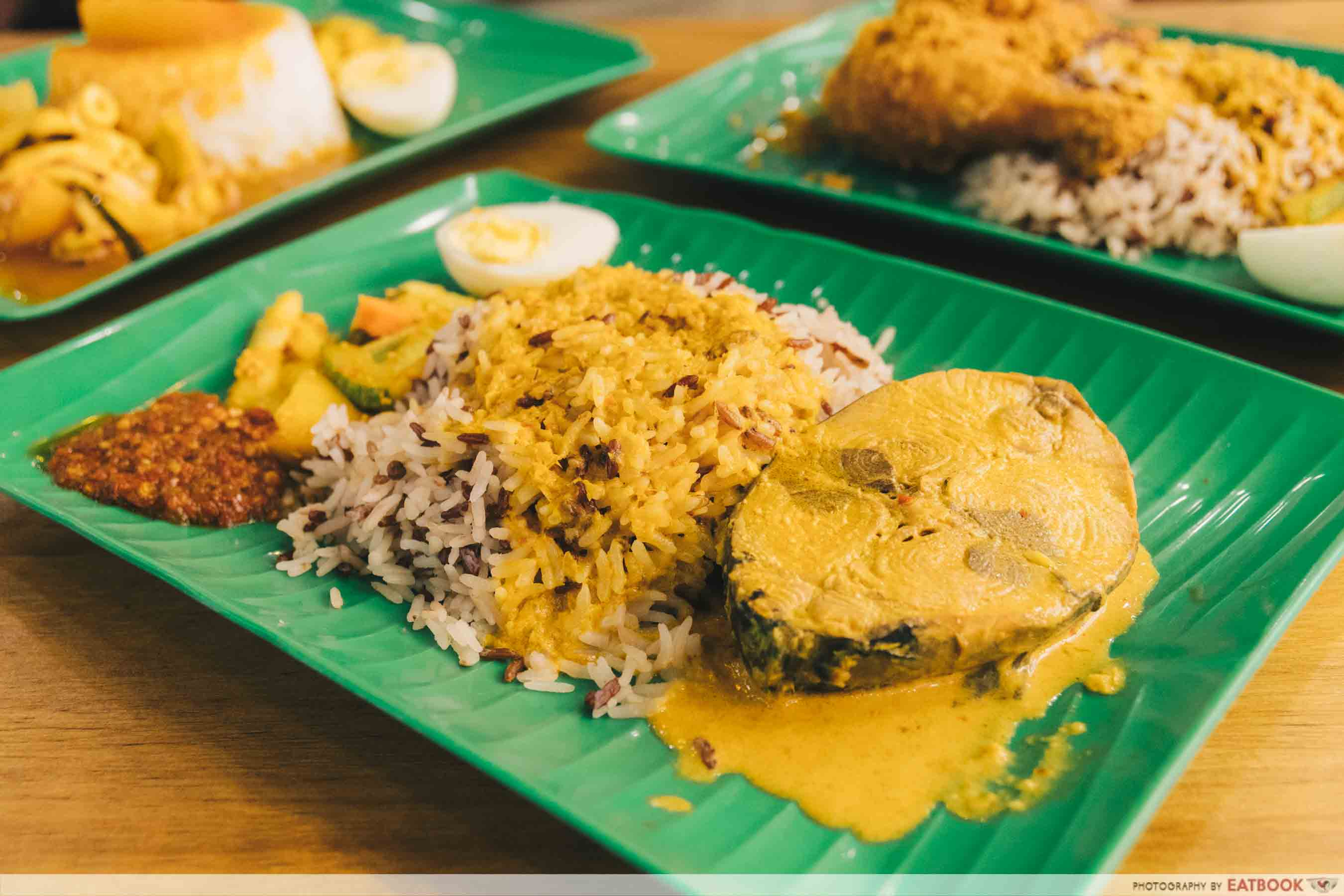 Yes Nasi Kukus nasi dagang with curry fish