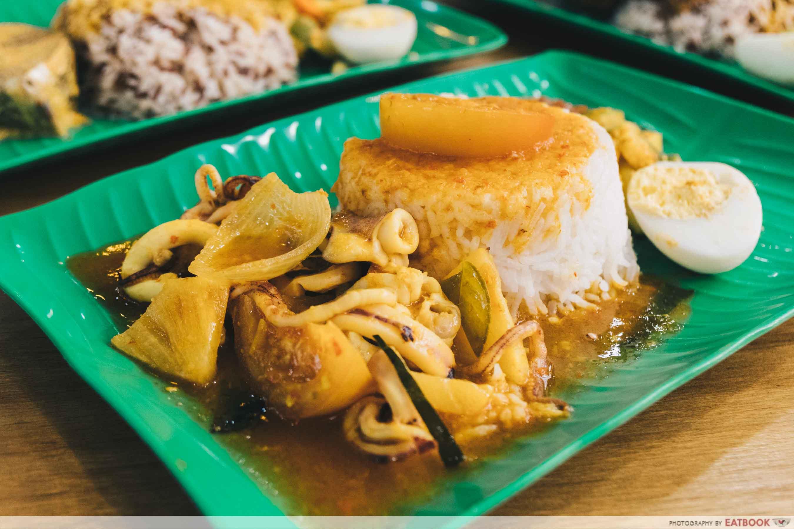 Yes Nasi Kukus nasi kukus with sambal sotong