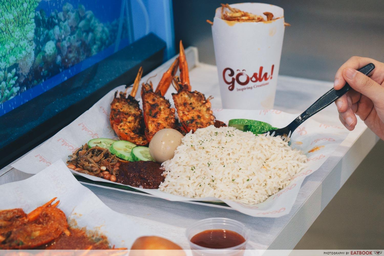 gosh! inspiring creations mini lobster nasi lemak intro