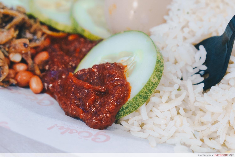 gosh! inspiring creations mini lobster nasi lemak sambal