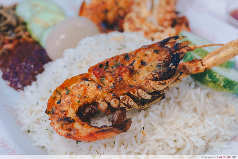 gosh! inspiring creations mini lobster nasi lemak yabby