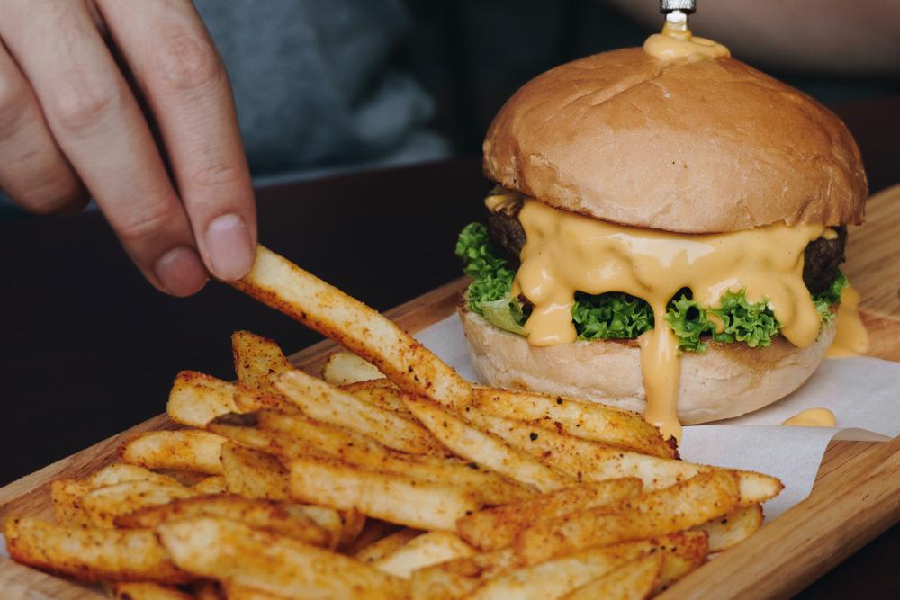 lava cheese burger toby dessert