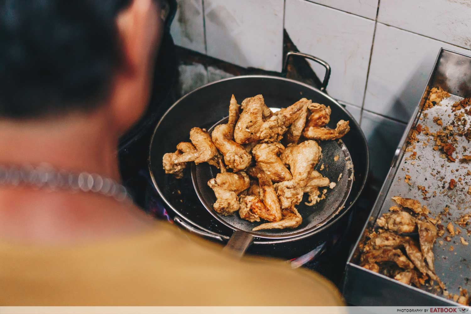 Victor Fried Chicken Wing RIce - Victor frying