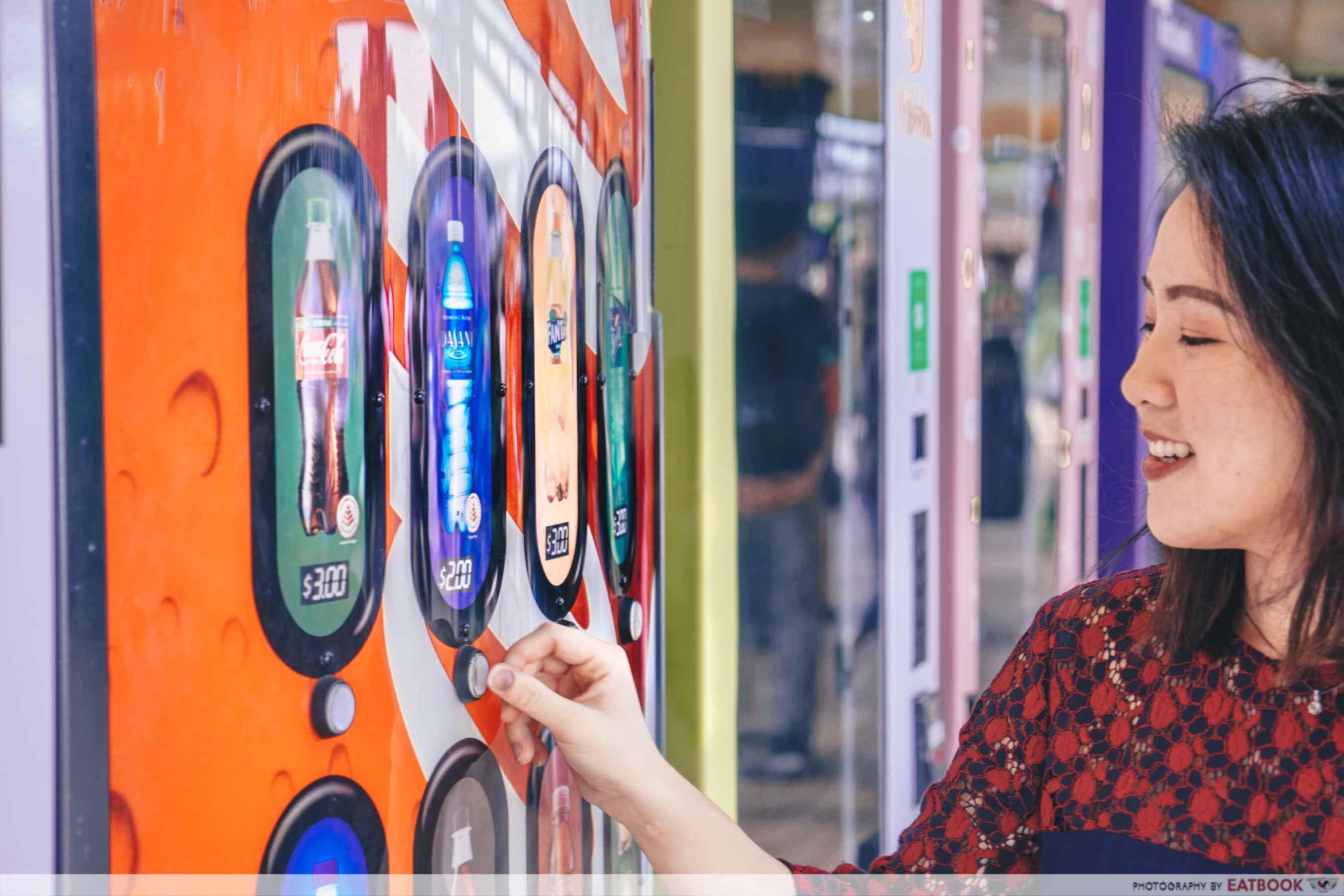 AdVENDture Sentosa Broadwalk Vending Machines - Coca Cola Machine