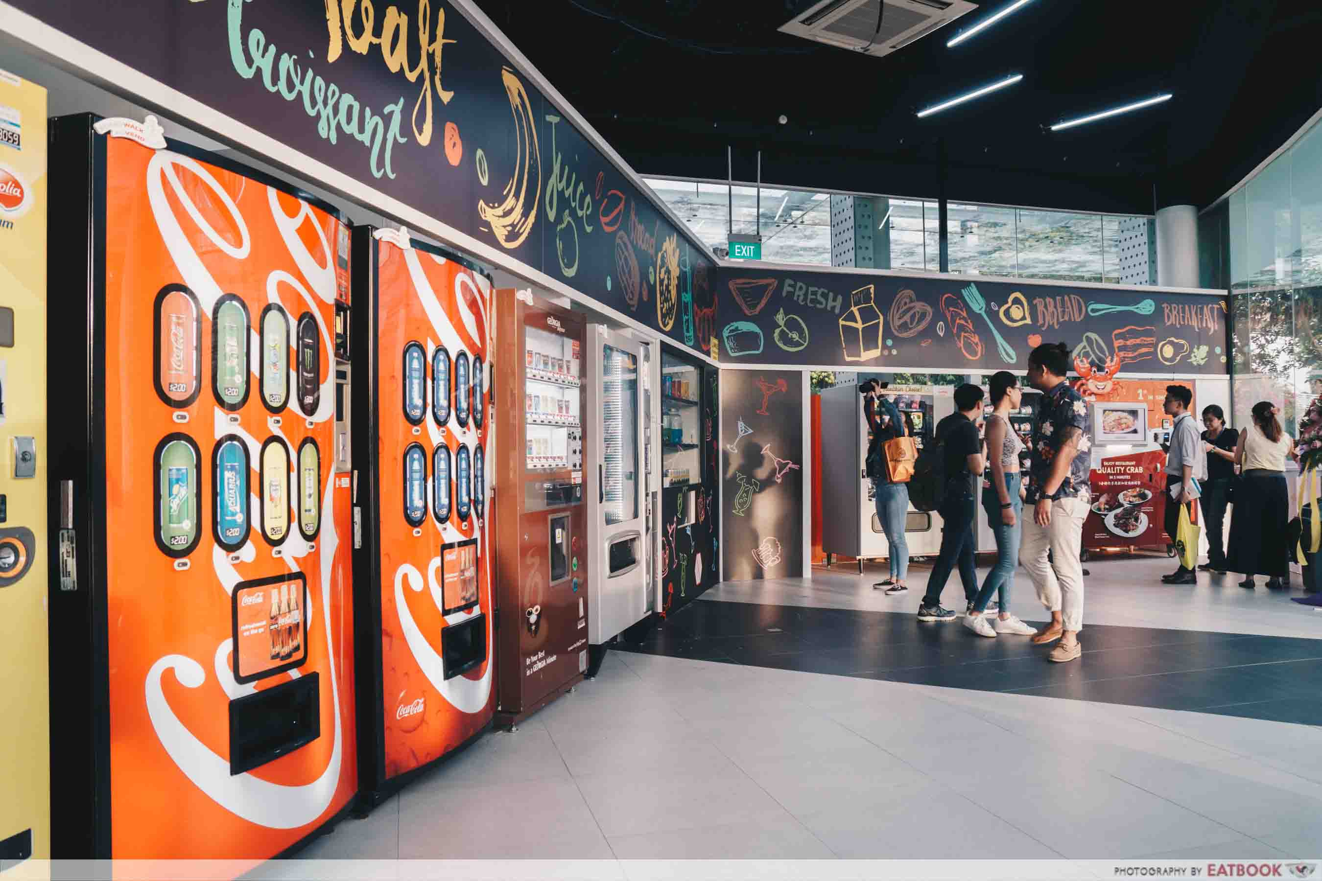 AdVENDture Sentosa Broadwalk Vending Machines - Foodie zone
