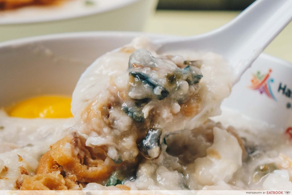 Botak Delicacy century egg congee