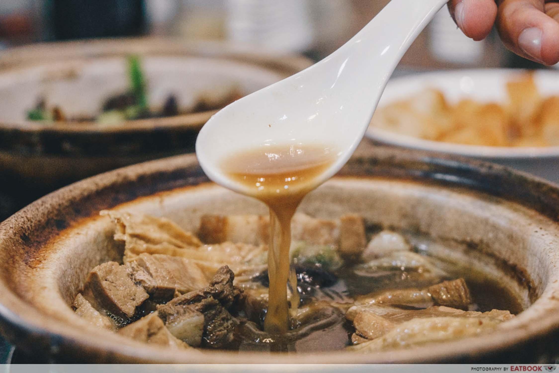 Good Taste Bak Kut Teh - Bak Kut Teh Soup Closeup