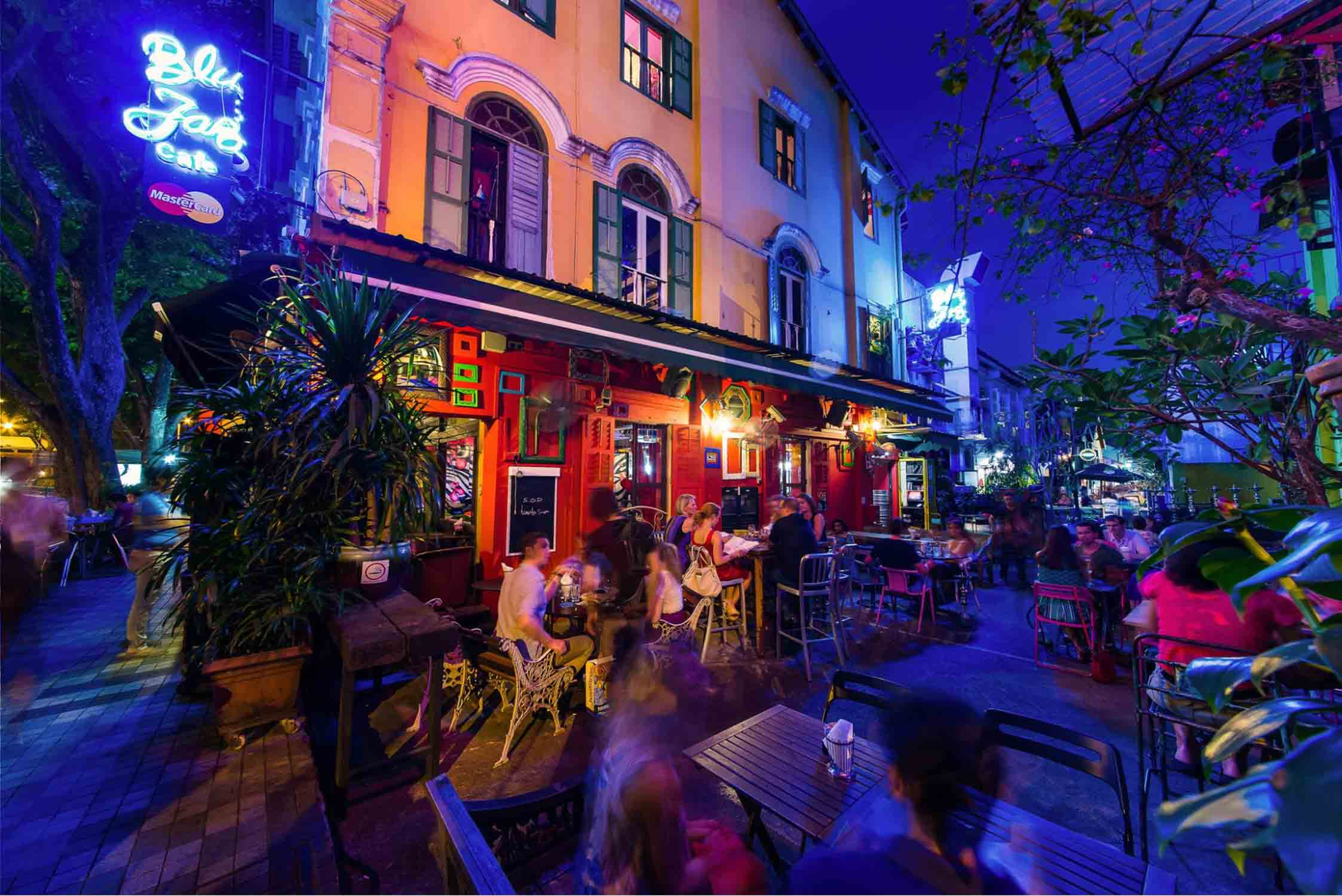 Haji Lane Food - Blu Jaz Ambience Updated