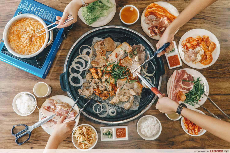 JB Mount Austin Food - Myeong Dong BBQ Buffet Food