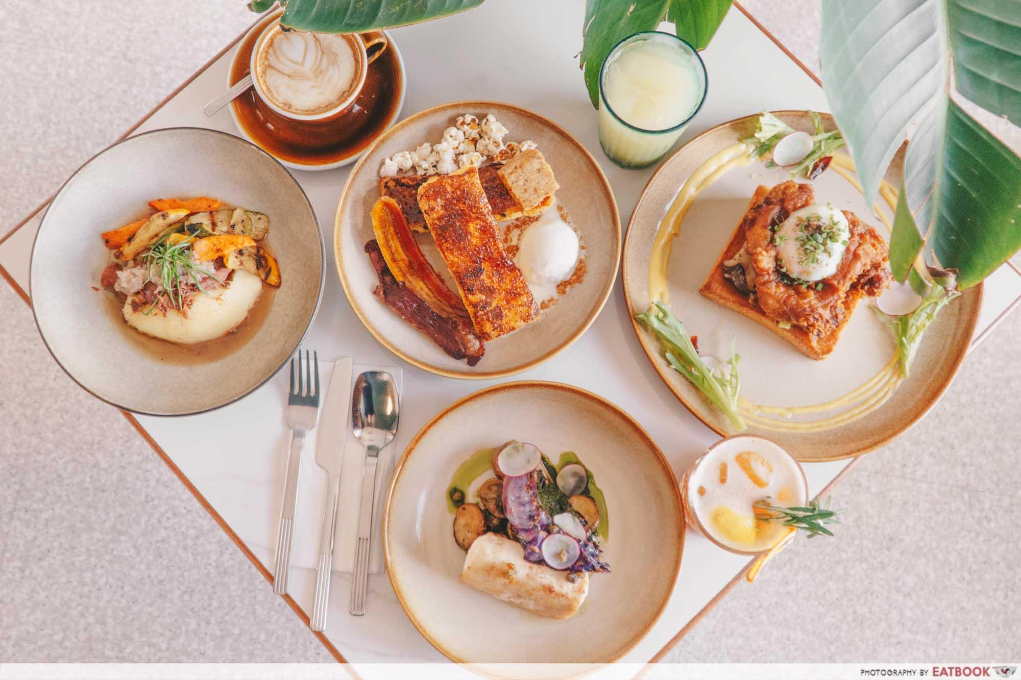 JB Mount Austin Food - Tropique Café & Restaurant Flatlay