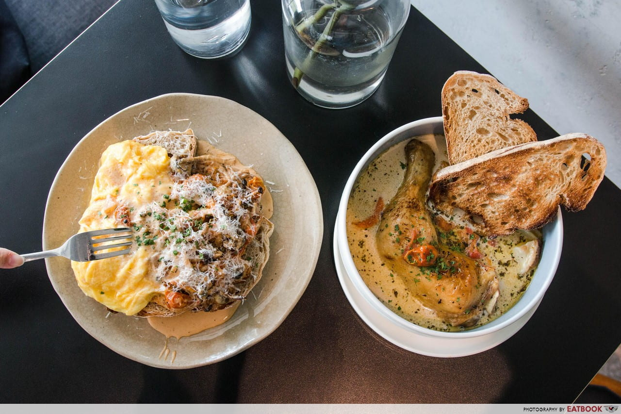 Minimalist Cafes - Columbus Coffee Co. Creamy Mushrooms on Toasted Sourdough