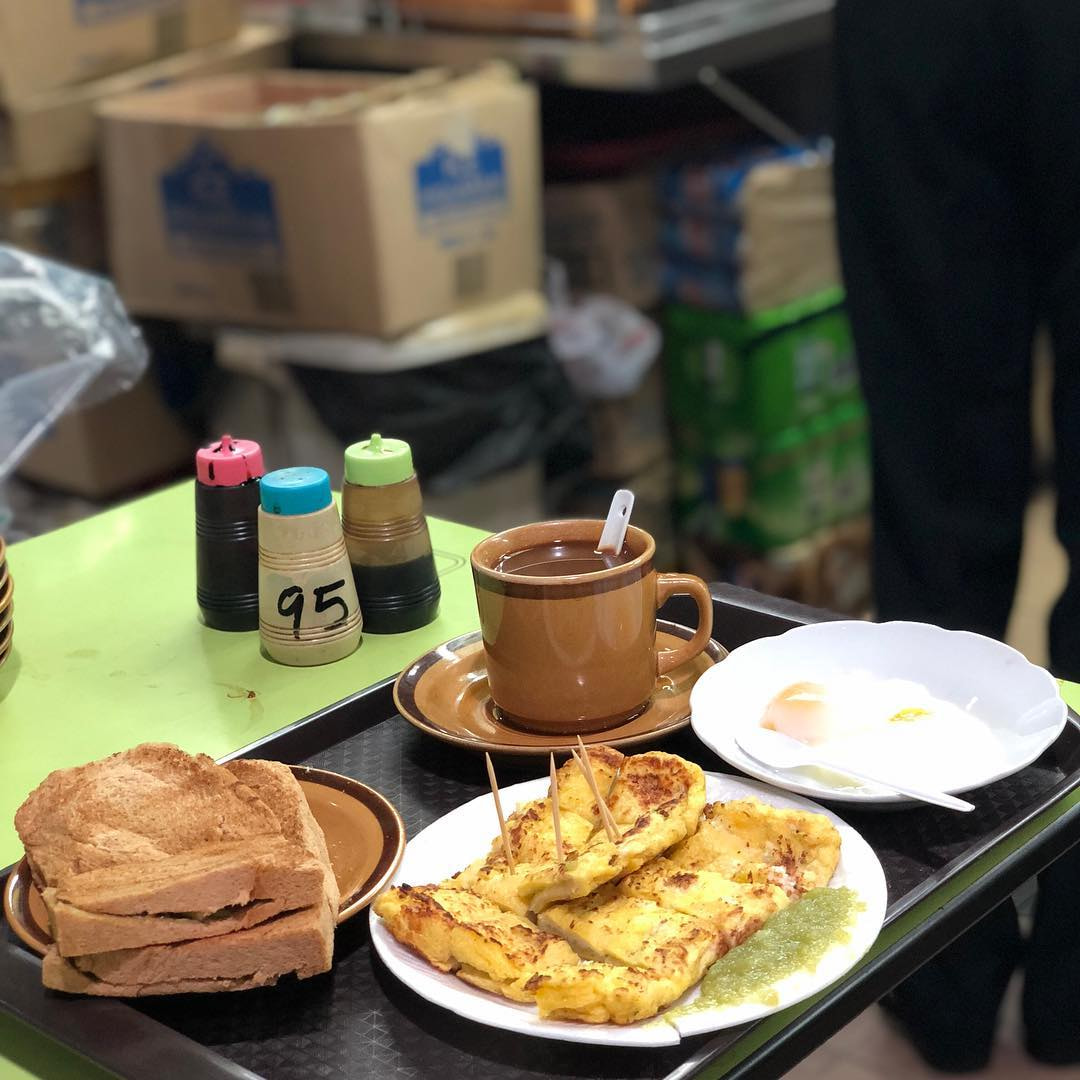 Old School Kaya Toast - Ah Seng Hai Nam Coffee