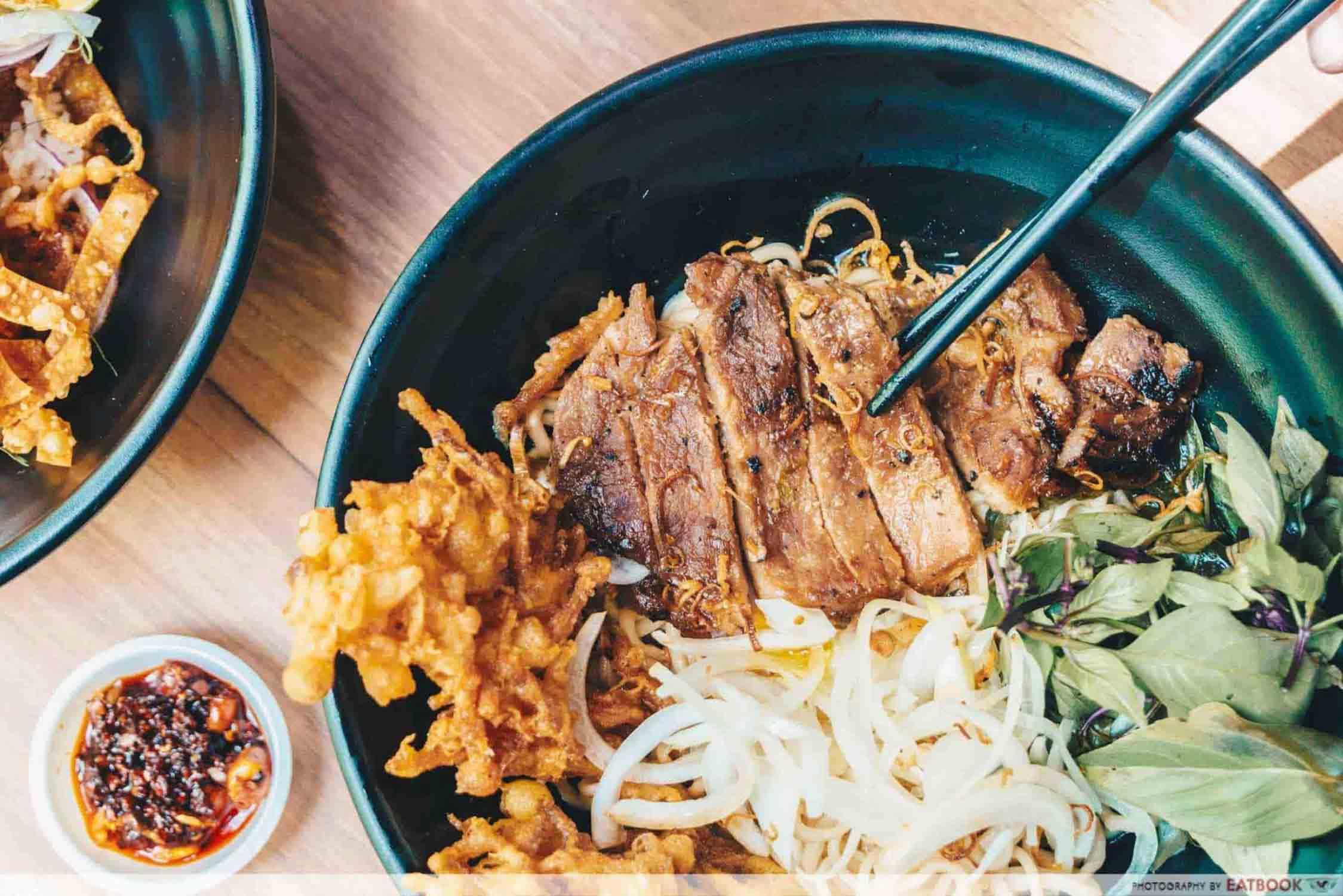 The Leggy Business - Bun Cha Meat Closeup