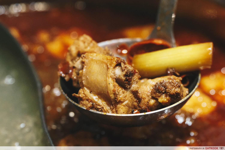 Xiao Mu Deng Traditional Hotpot - Cooked Pork Ribs in ma la soup