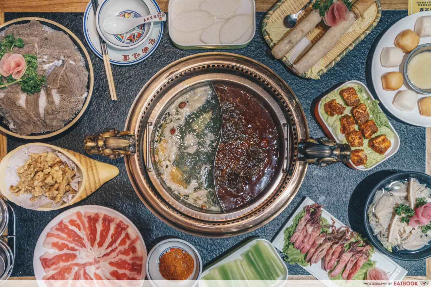 Xiao Mu Deng Traditional Hotpot - Flat lay steamboat