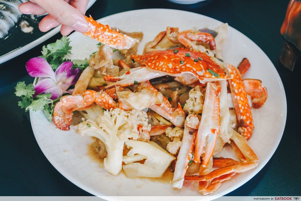 Xin Hua Delights Fried Crab with Cauliflower