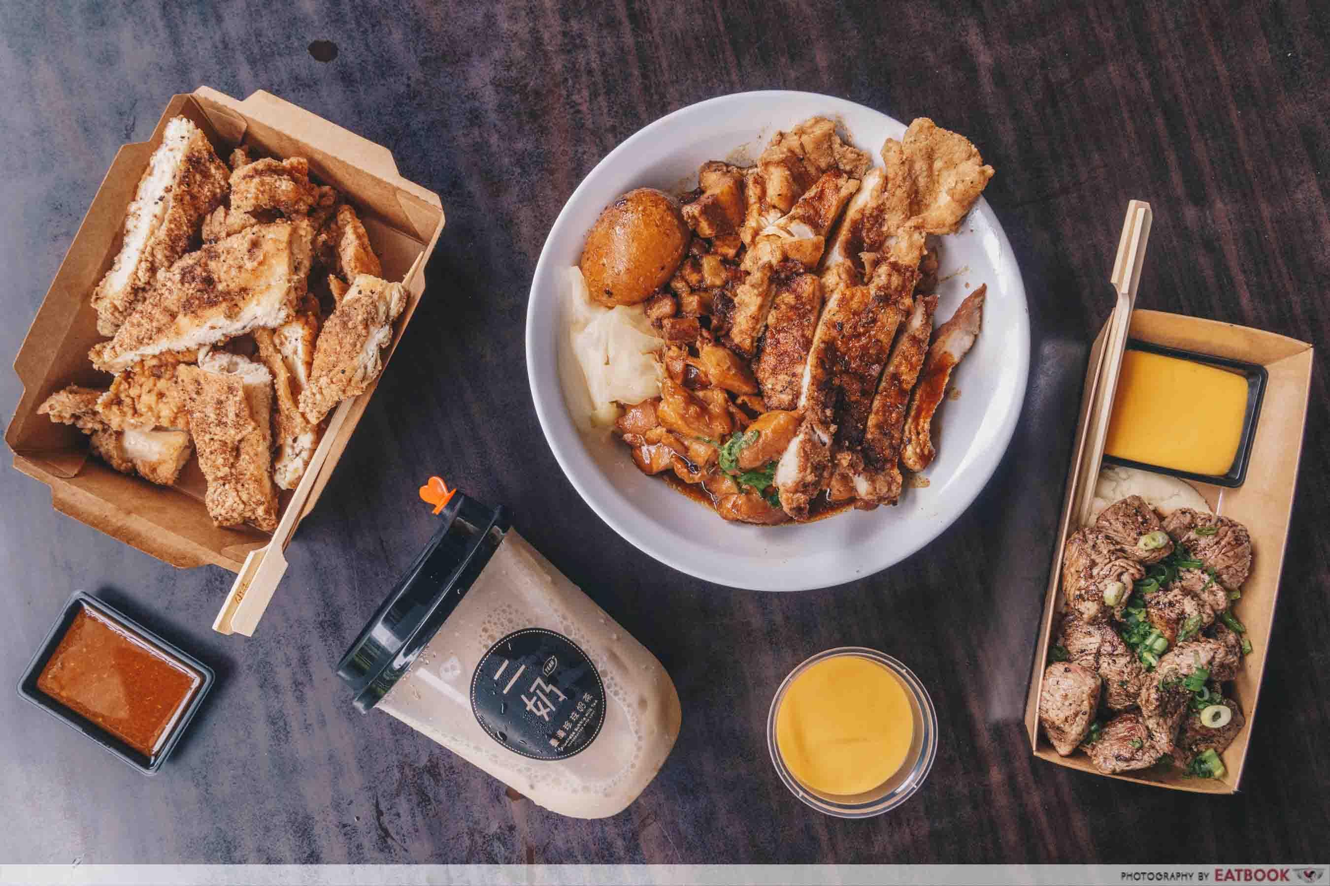 YEAH Taiwanese Modern Street Food flatlay