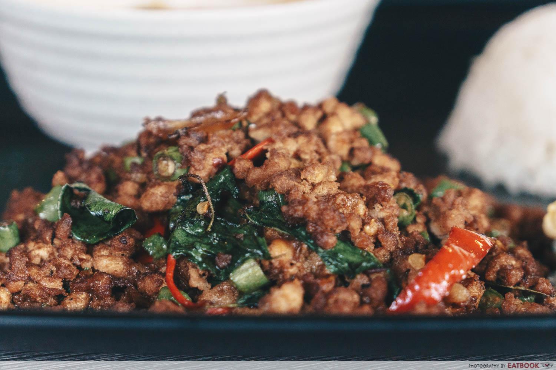 baan khun nai basil pork meat