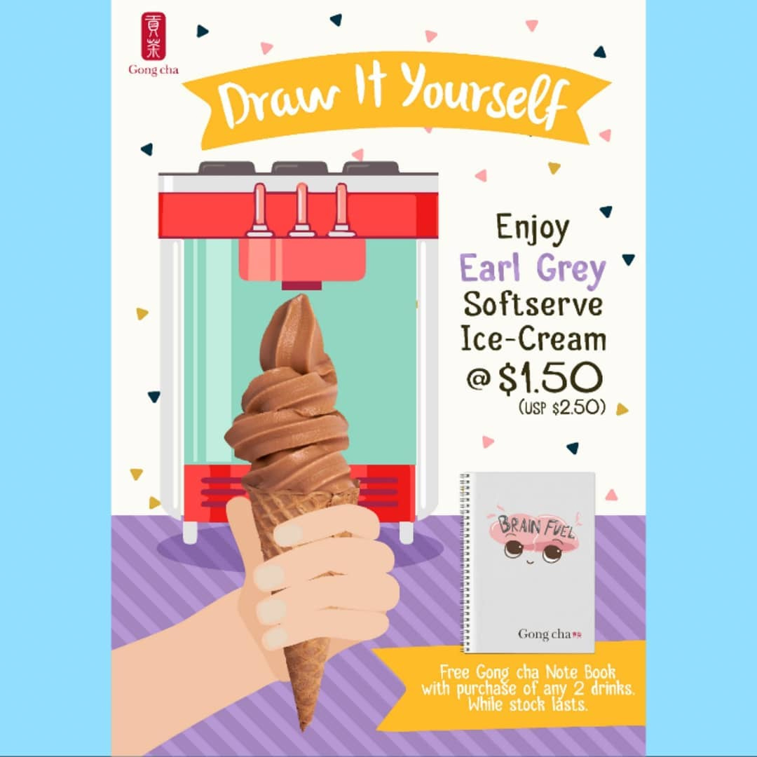 Gong Cha Brown Sugar - Earl Grey Soft Serve Promotion