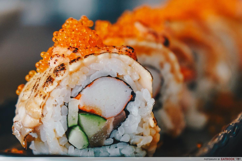 Kazoku - Aburi Mentai Salmon Roll Closeup
