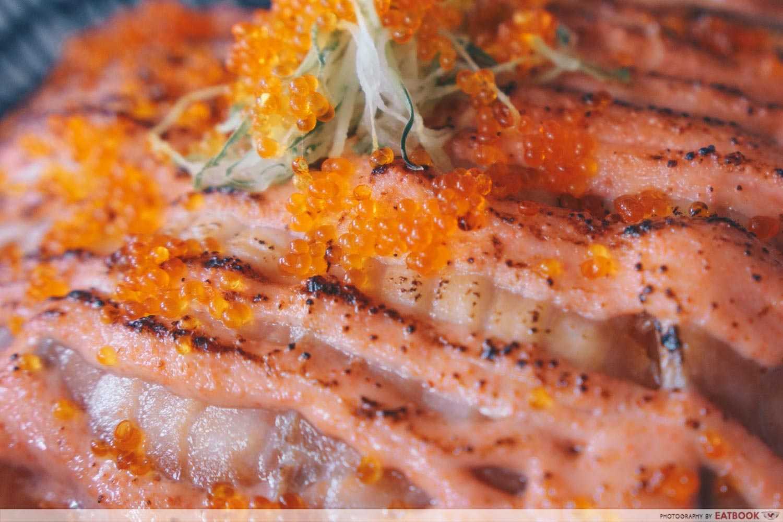 Kazoku - Salmon Mentaiko Closeup
